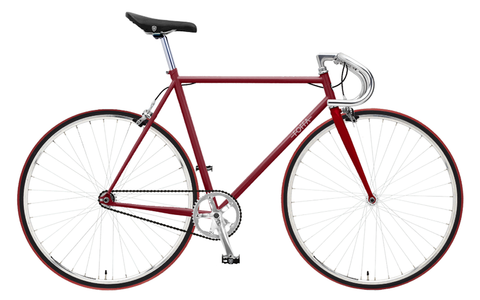 Foffa Red/Red Fixed Gear Single Speed Bike 2012 Bullhorn Handlebars