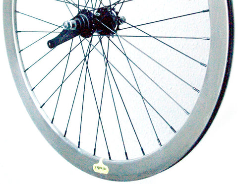 Espresso Coaster Brake Wheelset - Silver 43mm Deep V Wheels