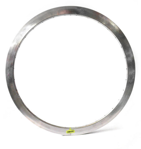 Espresso Deep V Rim - Silver 43mm Non Machined