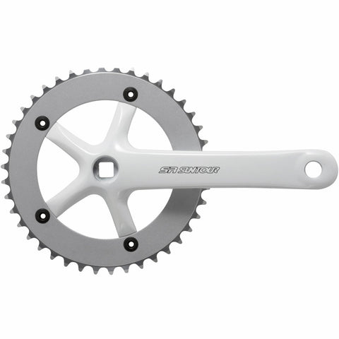 CW10-SCSP42-SP Single Chainset: 42T x 175mm White