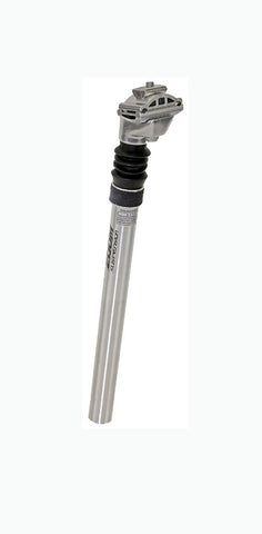 Zoom 25.4 x 350mm Micro Adjust Suspension Seat Post Silver