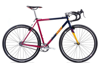 State Bicycle Co Warhawk CycloCross Bike: Navy, Maroon & Gold