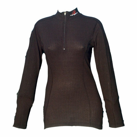 VANGARD 2514 L/SLEEVE ZIP LARGE LADIES BLACK