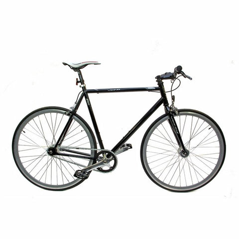 56cm Viking Trekking Fixed Wheel 700c, Black Steel Rigid Fixed