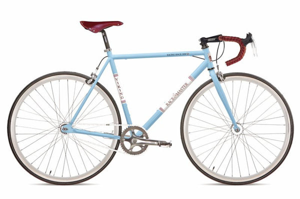 56cm Viking Racemaster Fixed Wheel 700c, Blue Steel Rigid Fixed