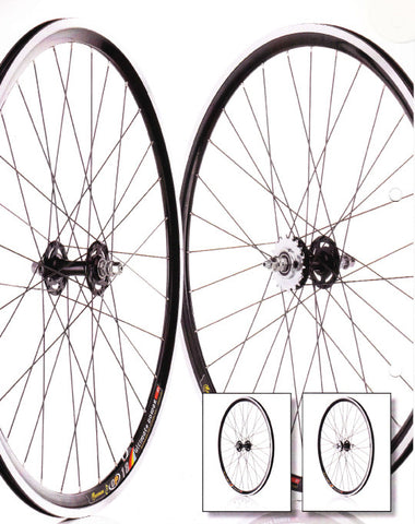 700c Flip Flop Fixie Wheelset (Pair) Black