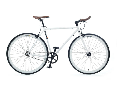 Mango Bikes Classic White Single Speed Fixed Gear Bike