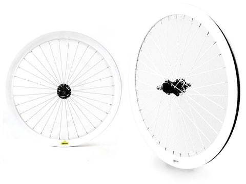 Espresso Coaster Wheelset - White 43mm Deep V Wheels
