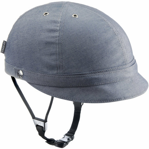 Milano Blue Denim Helmet Cover: Large (57-59cm)
