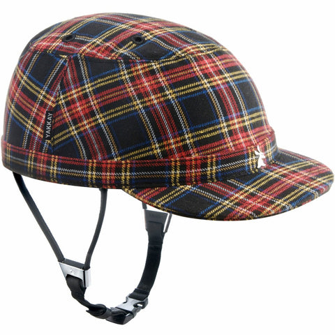 Paris Blue Red Check Helmet Cover: Large (57-59cm)