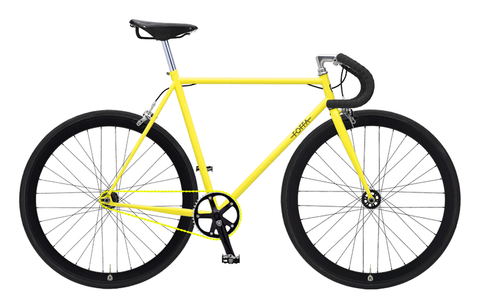 Foffa Yellow/Black Fixed Gear Single Speed Bike 2012 - Frame: 55cm - Bullhorn Bars
