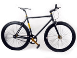 No Logo Alloy Black/Gold Single Speed Bike