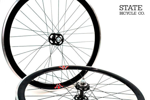 State Bicycle Co Black Track Wheelset