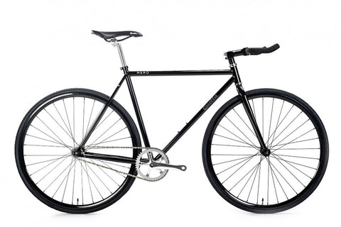 Quella Nero Gloss Black Single Speed Bike