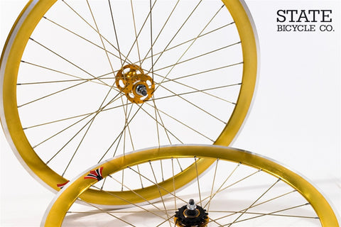 State Bicycle Co Gold on Gold Track Wheelset