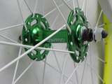 No Logo Lime Track/Fixie Deep V 700c Wheelset (Front & Rear) Machined - Flip Flop Hubs