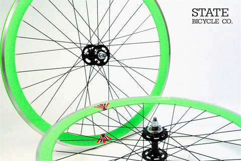 State Bicycle Co Green Track Wheelset
