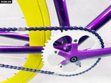 No Logo Purple/Yellow Single Speed Bike Fixie/Fixed Gear Track Bike - 53cm Frame