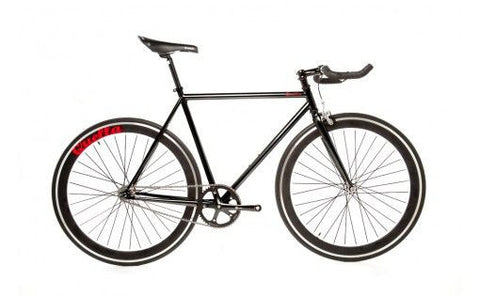 Quella Bicycle One Black Fixed Gear Single Speed Bike 2013 - 55cm Frame