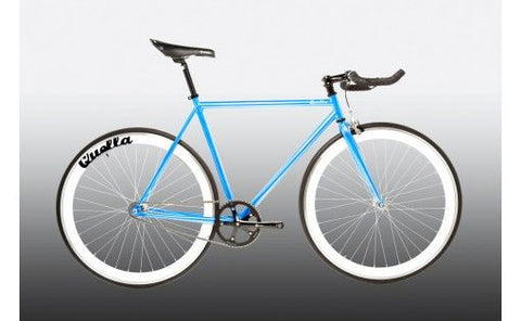 Quella Bicycle One Blue/White Fixed Gear Single Speed Bike 2013 - 52cm Frame