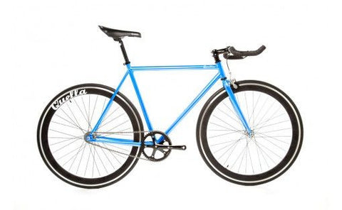 Quella Bicycle One Blue/Black Fixed Gear Single Speed Bike 2013 - 55cm Frame