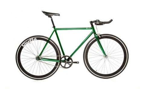 Quella Bicycle One Green/Black Fixed Gear Single Speed Bike 2013 - 55cm Frame
