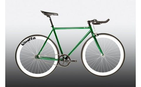 Quella Bicycle One Green/White Fixed Gear Single Speed Bike 2013 - 55cm Frame