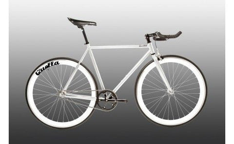 Quella Bicycle One Grey/White Fixed Gear Single Speed Bike 2013 - 59cm Frame