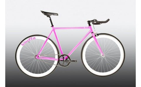 Quella Bicycle One Pink/White Fixed Gear Single Speed Bike 2013 - 59cm Frame