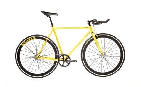 Quella Bicycle One Yellow/Black Fixed Gear Single Speed Bike 2013 - 55cm Frame