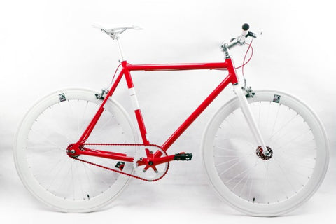 Nolobi 2014 Red/White Single Speed Bike Fixie/Fixed Gear Track Bike - 53cm Frame