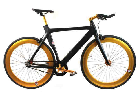No Logo 2017 Aero Single Speed Track Bike Black Gold
