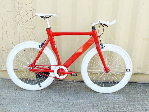 No Logo 2017 Aero Single Speed Track Bike White Red