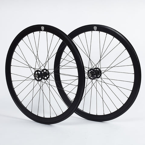 Foffa Black Track Fixed Gear Wheelset 42mm Non Machined