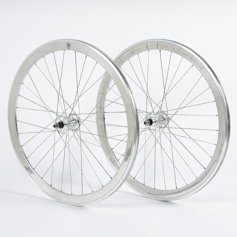 Foffa Silver Track Fixed Gear Wheelset 42mm Machined
