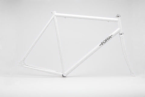 Foffa White Track Frameset - Fixed Gear Single Speed Frame - Size: 55cm