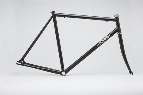 Foffa Black Track Frameset - Fixed Gear Single Speed Frame - Size: 55cm