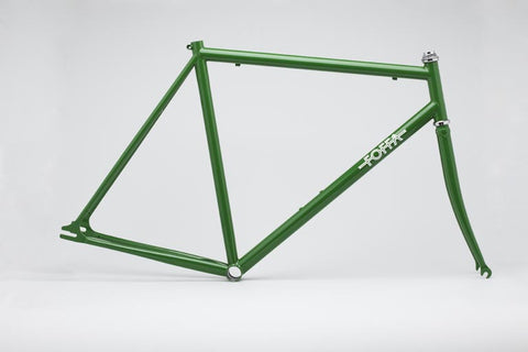 Foffa Green Track Frameset - Fixed Gear Single Speed Frame - Size: 55cm