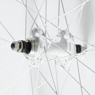 Foffa White Track Fixed Gear Wheelset 42mm Non Machined