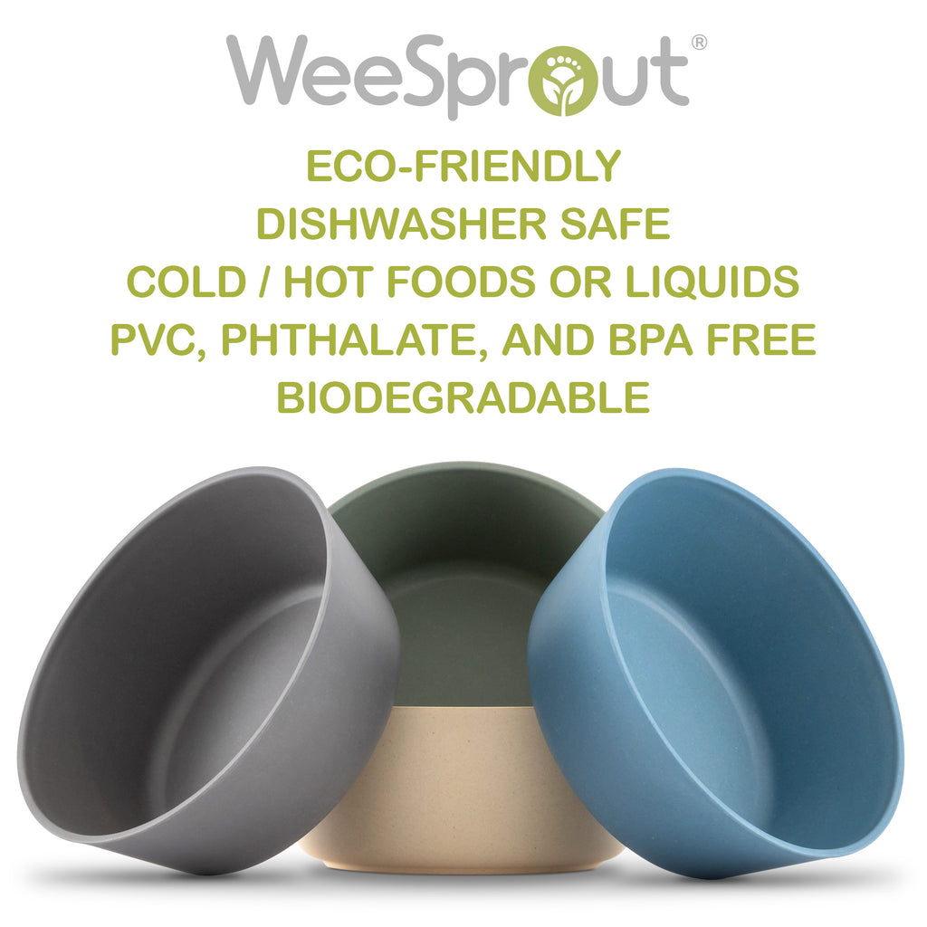 WeeSprout Bamboo Toddler Bowls