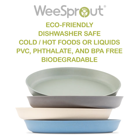 WeeSprout Bamboo Toddler Plates