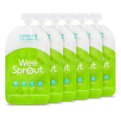 """Nature's Little Squeeze"" Reusable Food Pouches - WeeSprout"