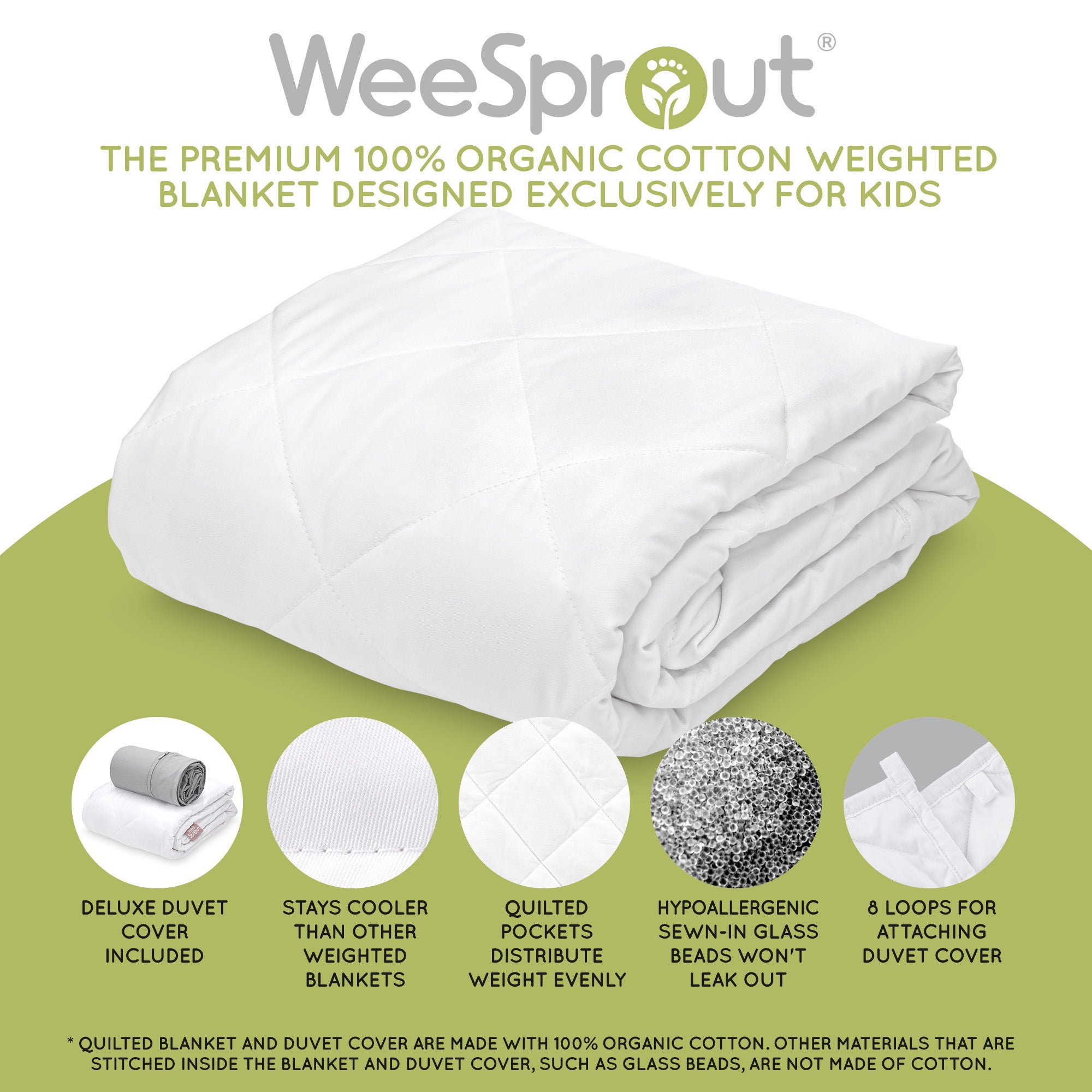 Weighted Blanket For Kids 5lb 7lb 10lb Sizes Weesprout