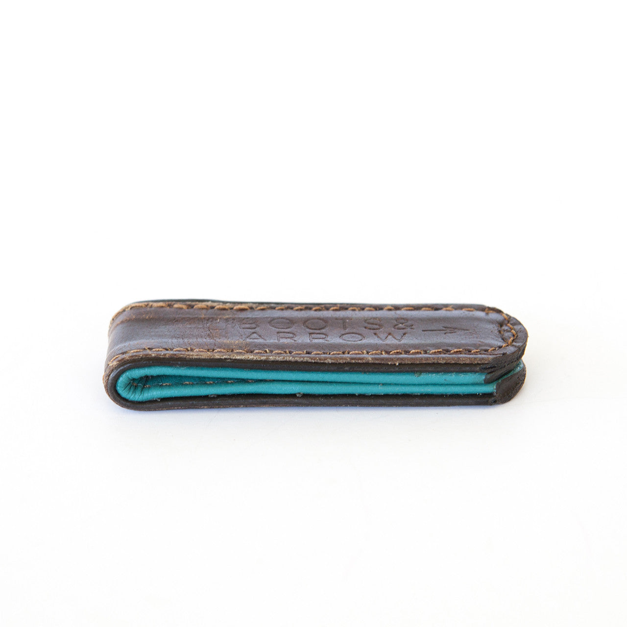 Brown + Turquoise Bootstrap Money Clip