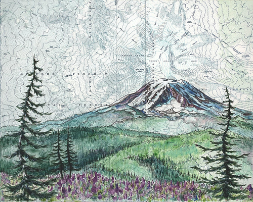 Mt. Adams Summer Art Print w/ Mat