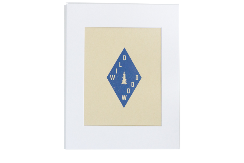 Wildwood Trail Blazon Art Print w/ Mat