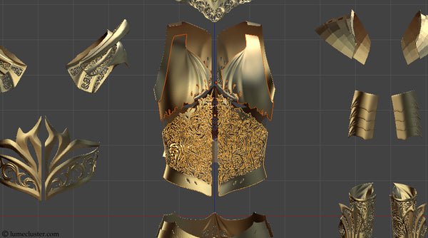 Lumecluster Sovereign Armor parts