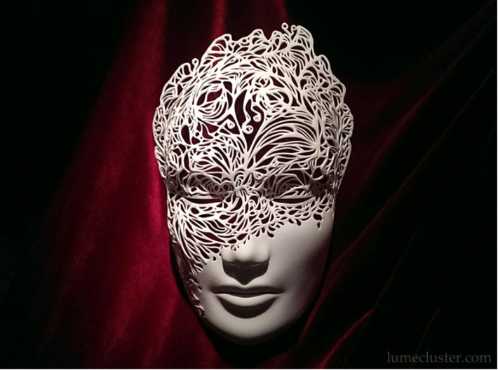 Dreamer Mask: Breakthrough (large & small options) 3d printed Dramatic lighting