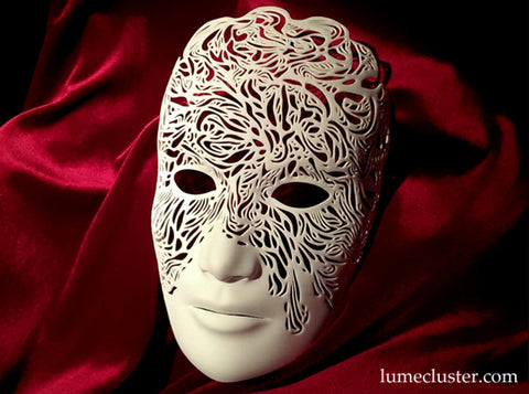 Dreamer Mask: Illumination (large & small) 3d printed