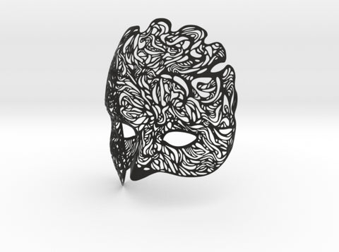 Dreamer Mask: Illumination (wearable half mask) 3d printed